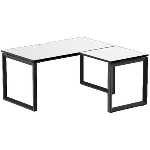 Stilford Professional Workstation 1500mm Black/White/Black