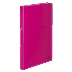 Kokuyo Color Tag A4 Display Book 40 Pocket Fixed Pink