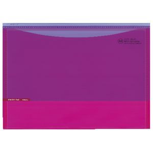 Kokuyo Color Tag A4 Document Wallet Pink/Dark Pink