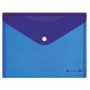 Kokuyo Bi-Color A5 Document Wallet Button Large Blue/Purple