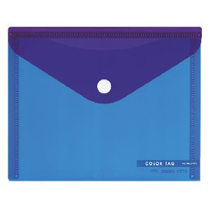 Kokuyo A6 Bi-Color Document Wallet Blue/Purple