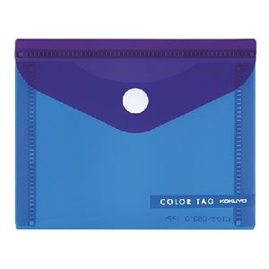 Kokuyo Bi-Color Document Wallet Small Blue/Purple