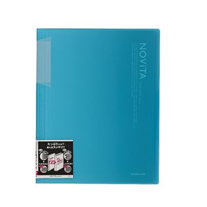 Kokuyo Display Book A4 NOViTA 20 Pocket Light Blue