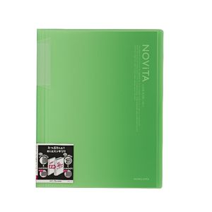 Kokuyo Display Book A4 NOViTA 20 Pocket Light Green