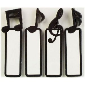 Little B Decorative Tabs Music Notes 4 Pack