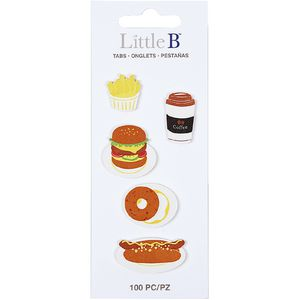 Little B Decorative Tabs Fast Food 5 Pack