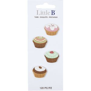 Little B Decorative Tabs Cupcakes 4 Pack