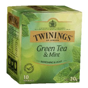 Twinings Green Tea with Mint Bags 10 Pack