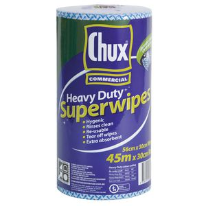 Chux Heavy Duty Super Wipes Cloth Roll Blue