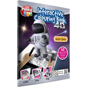Pukka Interactive 4D Colouring Book Outer Space