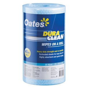 Oates Dura Clean Wipes on a Roll 45m