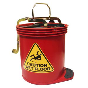 Oates Wringer Mop Bucket Red
