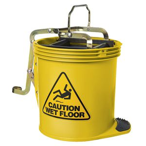 Oates Wringer Mop Bucket Yellow