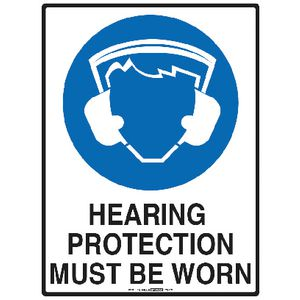 Mills Display Hearing Protection Sign 225 x 300mm