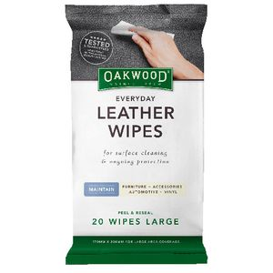 Oakwood Everyday Leather Wipes 20 Pack