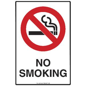 Mills Display No Smoking Sign 225 x 300mm