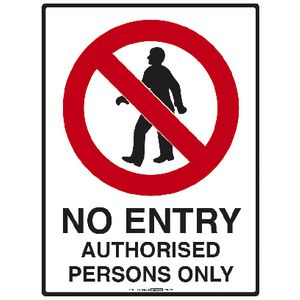 Mills Display No Entry Sign 225 x 300mm