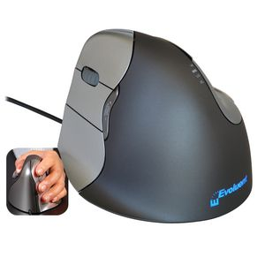 Evoluent Vertical Mouse 4 Left Black and Grey