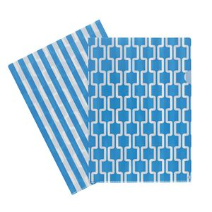 Letter File A4 Single Printed Blue Chevron
