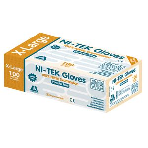 Livingstone Ni-Tek Nitrile Powder Free Glove X Large 100 Pack