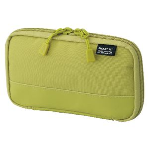 Lihit Lab Single Zip Smart Fit Actact Pencil Case Lime