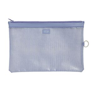 Lihit Lab Mesh Document Wallet A4 Blue