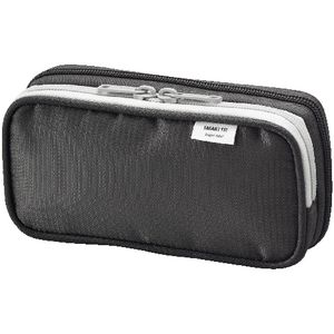Smart Fit Twin Zip Pencil Case Small Black