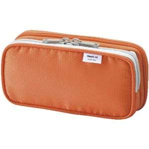 Smart Fit Twin Zip Pencil Case Small Orange