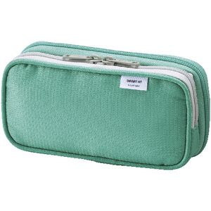 Smart Fit Twin Zip Pencil Case Small Green
