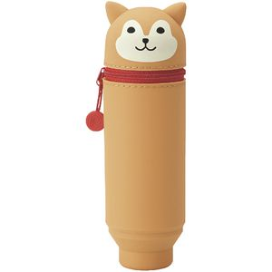 Smart Fit Single Zip Stand Up Silicone Pencil Case Dog