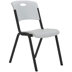 Lifetime Stackable Chair White