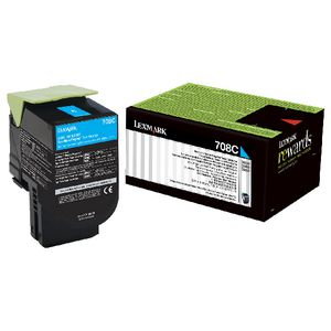 Lexmark 708C Return Toner Cartridge Cyan
