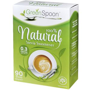 GreenSpoon Natural Stevia Sweetener 90 Pack