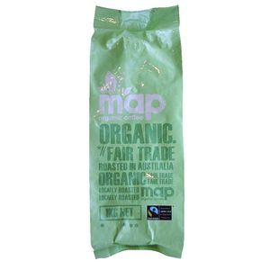 Map Fairtrade Organic Coffee Beans 1kg