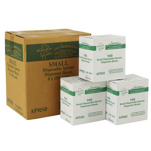 Maxpac EnviroGreen Disposable Aprons White Small 800 Pack