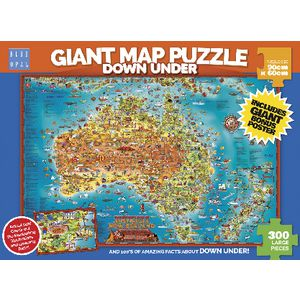 Blue Opal Giant Down Under Map Puzzle