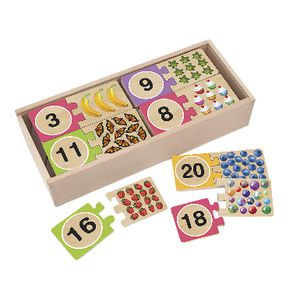 Melissa & Doug Wooden Number Puzzle Cards