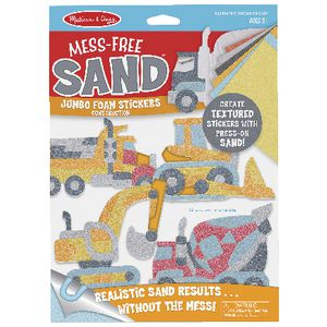 Melissa and Doug Foam Sand Stickers Construction
