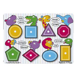 Melissa & Doug Numbers Shapes Puzzle