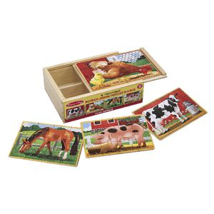 Melissa & Doug Puzzle in a Box Farm