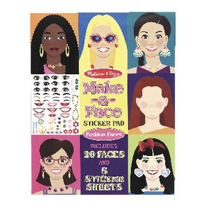 Melissa & Doug Make-a-Face Fashion Faces Stickers