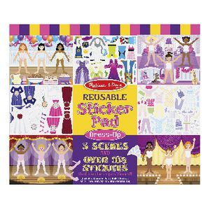 Melissa & Doug Reusable Sticker Book Dress Ups