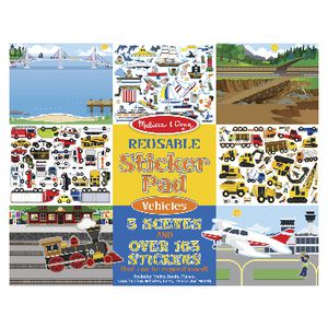 Melissa & Doug Reusable Sticker Pad Vehicles