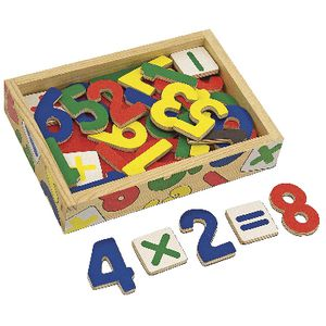 Melissa & Doug Magnetic Wooden Numbers 37 Pack