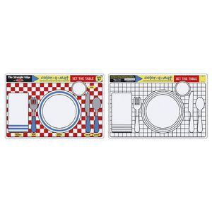 Melissa & Doug Colour-A-Mat Set the Table