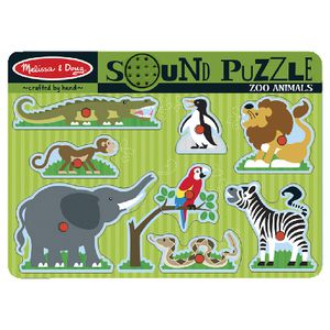 Melissa and Doug Wooden Puzzle Zoo Animals