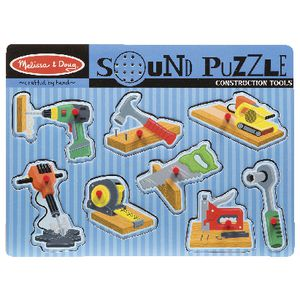 Melissa and Doug Wooden Puzzle Construction Tools