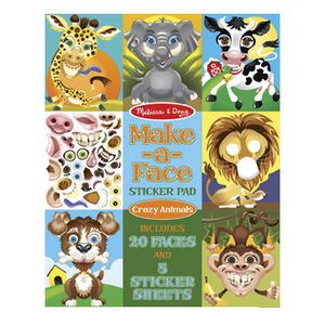 Melissa & Doug Make-a-Face Crazy Animals Stickers