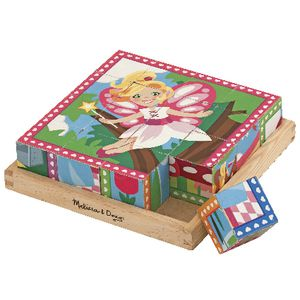 Melissa & Doug Cube Puzzle Princesses and Fairies