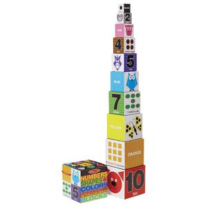 Melissa & Doug Number, Shape and Colour Stacking Blocks